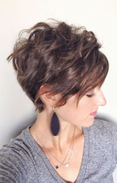 pixie with long bangs short wavy hairstyles for girls