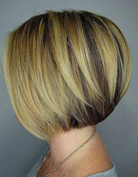 The balayage layered bob short hairstyles for thick hair