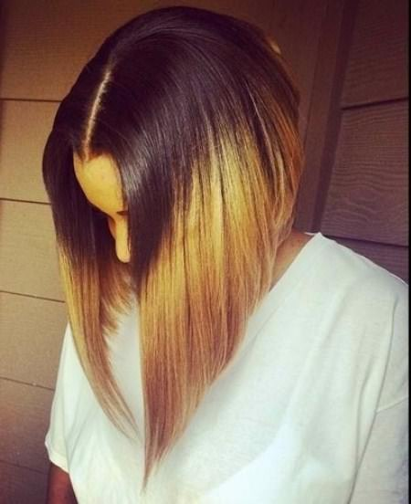 angled bob trendy brown ombre hair ideas