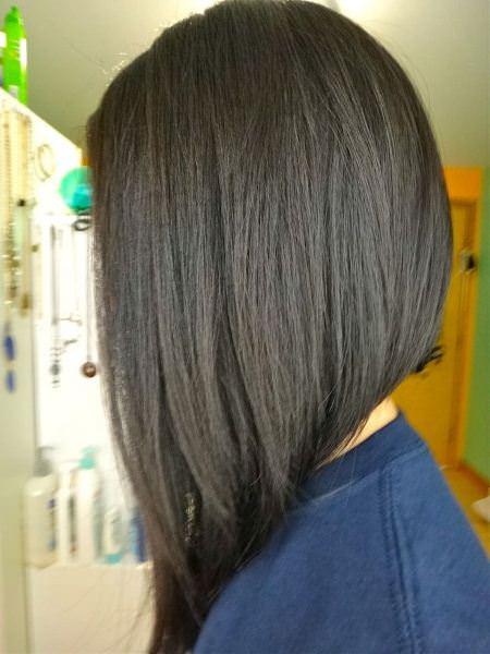 angled medium length haircuts