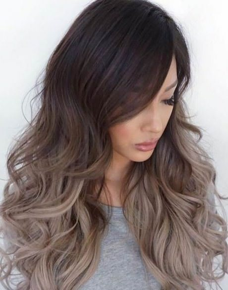 ash blonde with earth tone ash blonde and silver ombre
