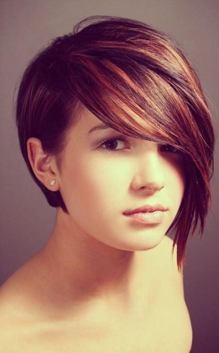 asymmetrical and dye hairstyles for short hair