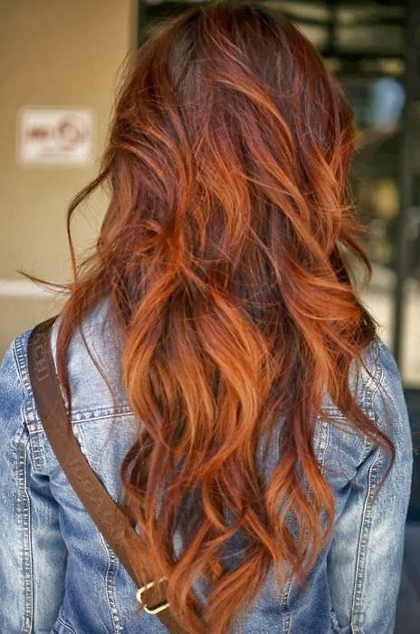 auburn balayage curls auburn hair color ideas