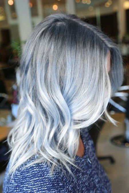 baby blue winter hair color