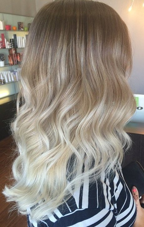 baby ombre ash blonde and silver ombre