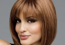 bangs with collarbone bob for medium haircuts