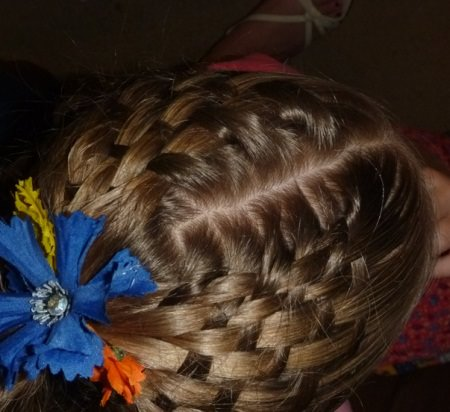basket weave short hairstyles for little girls