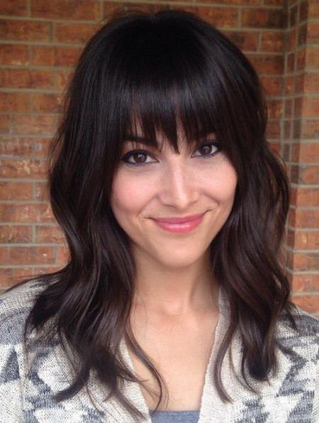 bedhead medium length haircuts with bangs