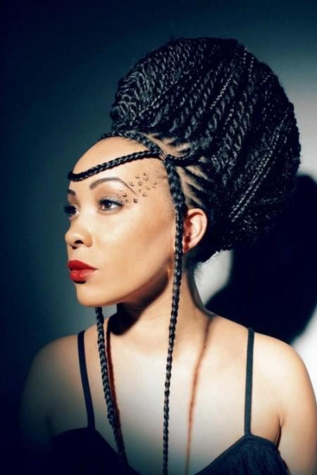 beehive-box-braids-updo-hairstyles