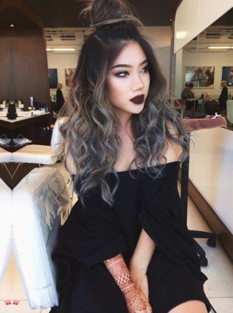 black to gray ombre hair ash blonde and silver ombre
