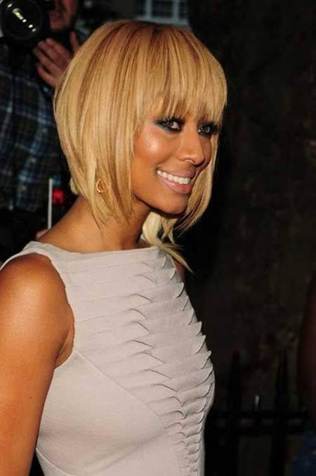 blonde and beautiful inverted bob haircut