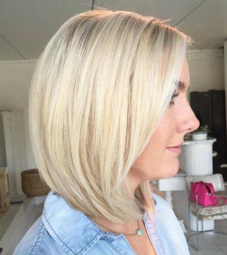 blonde bob medium length haircuts