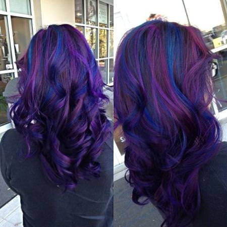 15 best hair color ideas for chunky highlights blue hair color with purple highlights hair color ideas for chunky highlights pmusecretfo Image collections